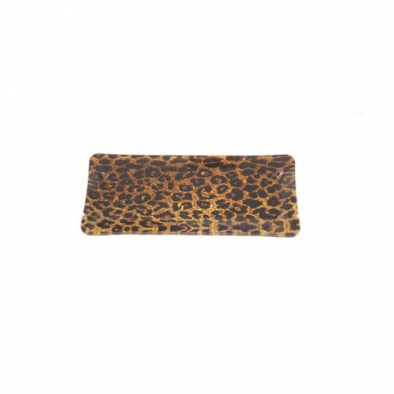 Bandeja Retangular Leopard P