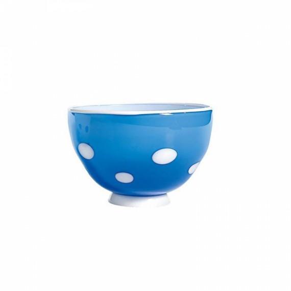 Bowl Bon Bon Turquesa com Pois Branco  Zafferano