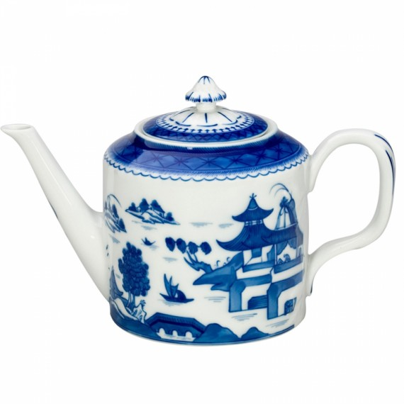 Bule Chá Blue Canton Vista Alegre