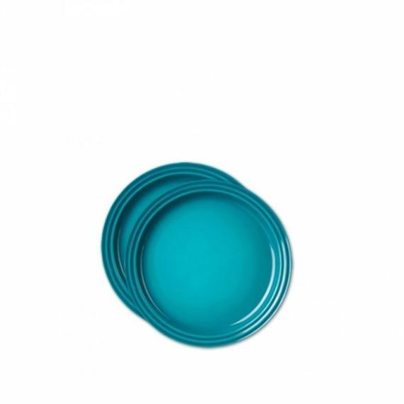Conjunto Pratos 15 cm Le Creuset Azul Caribe 2 peças