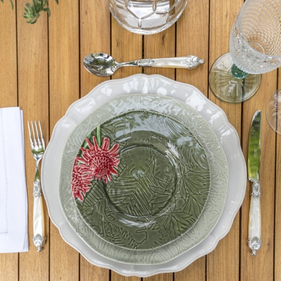 Conjunto Pratos Tropical Bordallo Pinheiro  8 peças