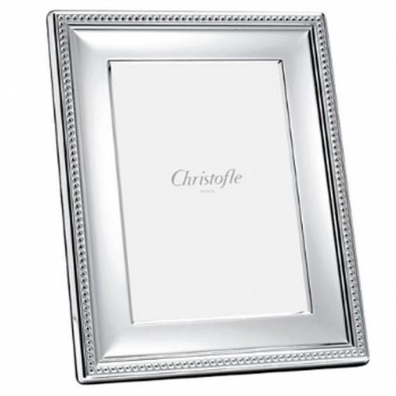 Porta Retrato Perles Christofle Prata 18cm x 24cm