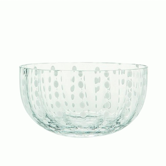 Saladeira Perle Transparente Zafferano