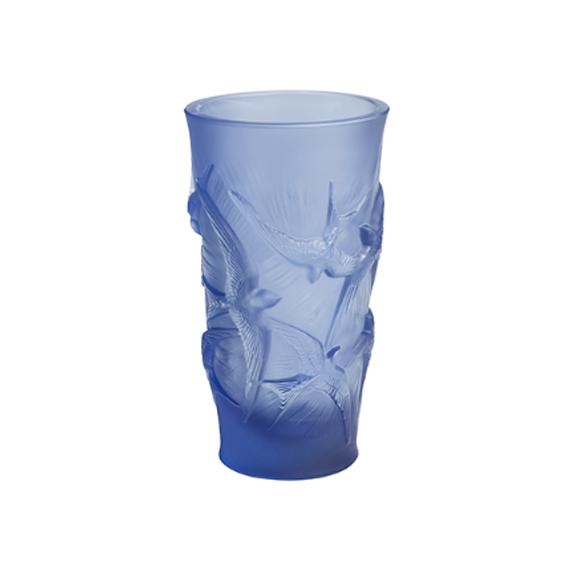 Vaso Hirondelles Azul Lalique