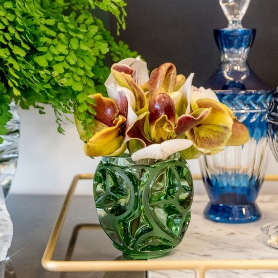 Vaso Tourbillons Lalique Verde P