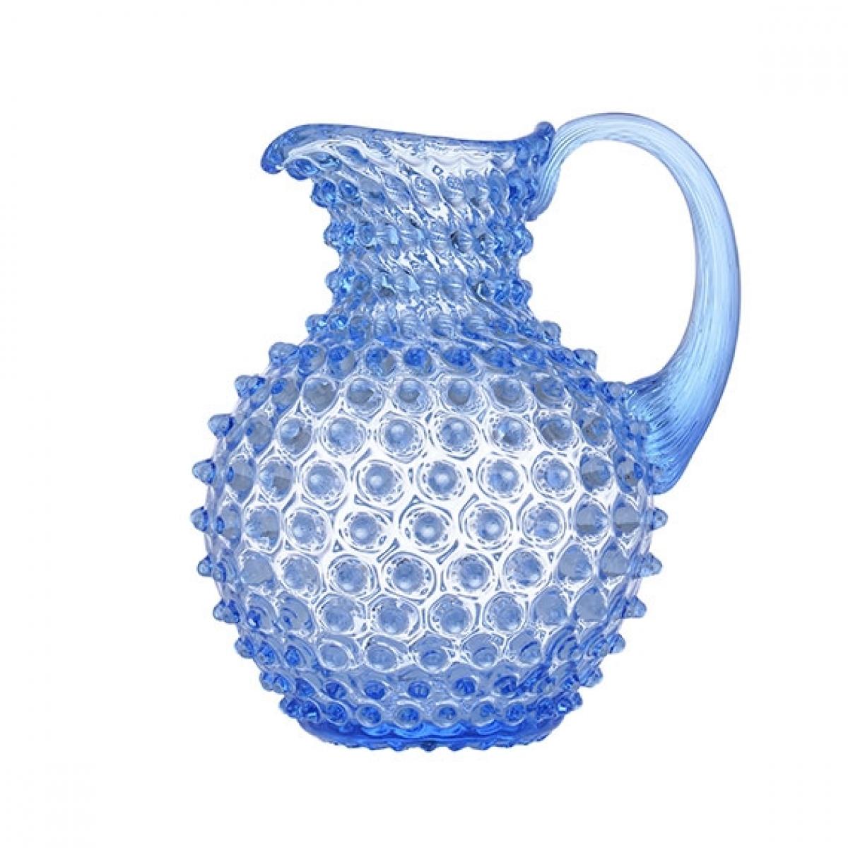 Jarra Abacaxi Cristal Azul Celeste 2L