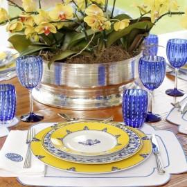 Conjunto Copos Perle Azul 2 peças Zafferano