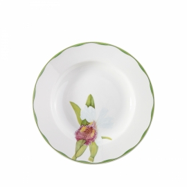 Conjunto Pratos Fundos Orquídeas Matisse Casa Vista Alegre 2 peças