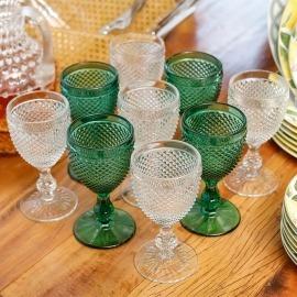 Conjunto Taças Bico de Jaca Vista Alegre Transparente 6 peças