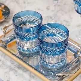 Copo Whisky Vitória Aqua Cristal