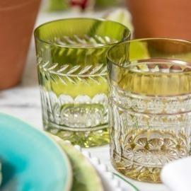 Copo Whisky Vitória Esmeralda Cristal