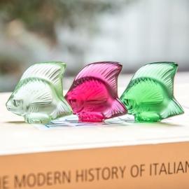 Escultura Poisson Lalique Verde Claro
