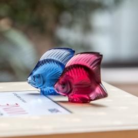 Escultura Poisson Lalique Vermelho