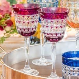 Taça Água Catarina Pink Cristal
