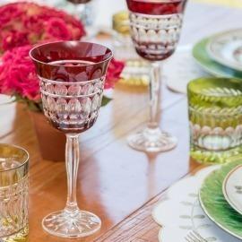 Taça Vinho Catarina Ruby Cristal