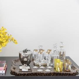 Taça Champagne Palazzo Gold Vista Alegre Cristal