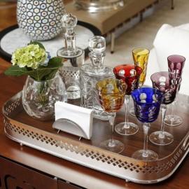 Taça Vinho Kawali Christofle Vermelha Cristal