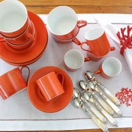 Xícara Chá Limoges Coral