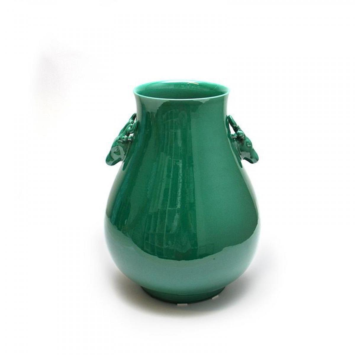 Vaso Com Alça Verde Esmeralda